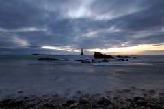 P9100560 (ernsttromp) Tags: france olympus omd em10 918mmf456 m43 microfourthirds mirrorless mft mzuiko neutraldensityfilter 3x2 nd1000 nd30 2018 longexposure clouds lighthouse normandy coast coastline water sea ocean motion stone pebble rock bigstopper sunset island