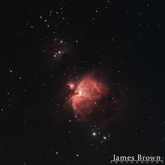The Orion Nebula (M42) & the Running Man Nebula (NGC 1973/5/7) (J. Brown Photography) Tags: james brown photography canon 700d modded skytracker heq5 pro william optics nebula stars astrophotography astronomy great orion m42