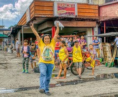 Look at Me (Beegee49) Tags: street filipina woman marching staring group people bus depot passengers sony a6000 bacolod city philippines happyplanet asiafavorites