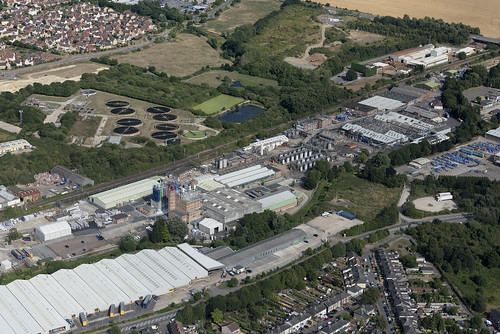 Akzonobel factory in Stowarket - Suffolk aerial image