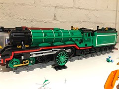 Begging (Britishbricks) Tags: train a3 engine steam flyingscotsman lner wip lego