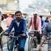 Bicycles in Traffic, Varanasi India