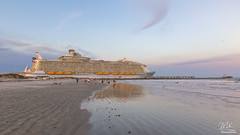 Royal Caribbean's Symphony of the Seas (Michael Seeley) Tags: beach capecanaveral cruise cruiseship florida jettybeach jettypark mikeseeley portcanaveral royalcaribbean ship symphonyofthesea