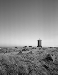 All along the watchtower (Rosenthal Photography) Tags: ilfordfp4 6x7 ff120 asa125 epsonv800 landschaft mittelformat ilfordlc2912921°c12min analog schwarzweiss mamiya7 broken herbst harz 20181004 tower watchtower mountain hill landscape trees mamiya 50mm f45 ilford fp4 fp4plus lc29 129 epson v800