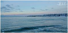 colder blue morning waters (D J England) Tags: djenglandphotography sigma24105mmf4dgoshsma douglasjengland brucepeninsula ontario dje canoneos5dmkiii southernontario djengland thebruce tobermory haybay clouds sky winter water morning