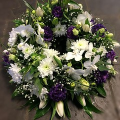 A beautiful white and purple wreath with lisianthus, orchids and gypsophila. . . #parsleyandsageflorist #stokeontrent #orchidsofinstagram #orchids #orchidlove #lisianthusflowers #lisianthus #gypsophila #florals #flowersofinstagram #flower_beauties #floris (parsleyandsage11) Tags: orchidsofinstagram floraldesign flowerstagram flowerpower lisianthusflowers flowerdaily florals flowergram floralfix floraldesigner flowermagic florwerstagram orchids flowersofinstagram flowerbeauties gypsophila parsleyandsageflorist florist orchidlove stokeontrent lisianthus