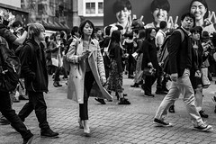 Walking A Straight Line Practice Session (burnt dirt) Tags: asian japan tokyo shibuya station streetphotography documentary candid portrait fujifilm xt1 bw blackandwhite laugh smile cute sexy latina young girl woman japanese korean thai dress skirt shorts jeans jacket leather pants boots heels stilettos bra stockings tights yogapants leggings couple lovers friends longhair shorthair ponytail cellphone glasses sunglasses blonde brunette redhead tattoo model train bus busstation metro city town downtown sidewalk pretty beautiful selfie fashion pregnant sweater people person costume cosplay boobs