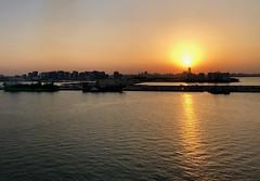Qatar (Doha) Sunset at Doha harbour (ustung) Tags: persiangulf landscape harbor sunset seascape doha qatar