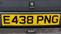 E438 PNG (3) (Nivek.Old.Gold) Tags: 1987 ford escort 16 ghia 5door billkilbourn hempnall eama dealerplate
