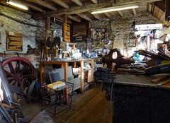 Craft Workshop at Caudwell's Mill. Derbyshire. Nov 2017 (SimonHX100v) Tags: caudwellmill rowsley matlock derby derbyshire caudwellmillcraftcentre mancave workshop bespoke metal
