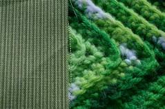 Dots and stripes : Macro Mondays (Knitlitcamper) Tags: macromondays fabric crochet macro dotsandstripes theme