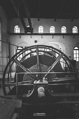 Miniera_Montevecchio_180067 (ivan.sgualdini) Tags: ancient blackandwhite canon history industry lift machine manual mechanic miniera mining montevecchio museum old sardegna sardinia vintage wheel window work
