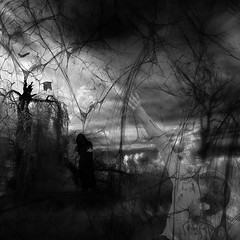the dark web (old&timer) Tags: background infrared textured composite surreal song4u oldtimer imagery digitalart laszlolocsei