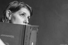 Manon (BenoitGEETS-Photography) Tags: manon d610 2470 tamron f28 bn bw noiretblanc nikon nb nikonpassion pensive songeuse lectrice lire livre book reader read