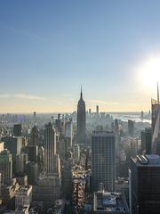 Top of The Rock (Ready Aim Photo) Tags: new york skyline manhattan top rock rockefeller empire state building skyscraper sunset golden hour