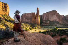 sacred ground (andy_8357) Tags: selp1650 sony 1650mm f35f56 oss e pz a6000 alpha 6000 mirrorless canyon de chelly arizona sandstone red rocks cliff cliffs spider rock navajo indian native american sacred site anam thubten rinpoche chod sunset serene peaceful emount mount grass trees last light people person tibetan magical spectacular magnificent beautiful landscape portrait powerful autumn chinle az sky clear sun ilce6000 ilcenex contemplation contemplative contemplacion