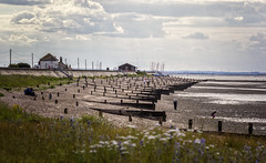 Seasalter [Explored] (JennTurner) Tags: whitstable kent coastal seaside beach groyne tide canon