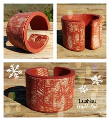 ❄️🎁🎄Unique handmade gifts for this Christmas!🎄🎁❄️ New cuffbracelet listed to my etsyshop LuaNuu Craft-lab  ..take a look 👀!! (Luana Sgammeglia) Tags: bracelet bangle cuffbracelet handmadebracelet polymerclaybangle arcillapolimerica ethniquejewelry womenjewelry women christmasgift giftforher etsyshop ersyitem jewels sicily italy madeinitaly patternbangle texture