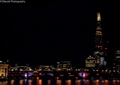 London at Night (Ellacott Photography) Tags: london architecture cityscape riverthames theshard nighttime editing lightroom photography nikond3100