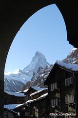 Zermatt, Blick zum Matterhorn (Sekitar) Tags: suisse schweiz switzerland svizzera svizra europe wallis valais zermatt matterhorn monte cervino mont cervin pemandangan landscape landschaft alpen alps alpine