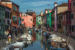 Journey Of Colors (Anna Kwa) Tags: burano colourful venetianlagoon canal boats fishermanshouses reflections venice italy annakwa nikon d750 2401200mmf40 my colors journey linger always seeing heart soul throughmylens life destiny fate travel world