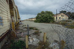 standing in the breach (Super G) Tags: nikon313 abadoned abandoned warehouse former us army base ford ord fence 2018