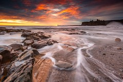 The Ebb (Pureo) Tags: amateur beach canon clouds coast canondslr dawn exposure england flowing goldenhour glow leefilters landscape northeast northsea northeastengland pebbles rocks seascape sea sky sunrise tynemouthpier tynemouth water waterscape waves