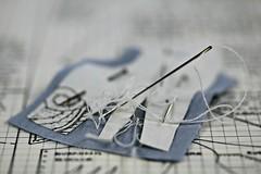 MACRO MONDAY HOBBY (Anne-Miek Bibbe) Tags: macro macromondays happymacromonday hobby sewingforthedollhousedolls sewing naaien naaienvoordepoppenhuispoppen naald needle draad thread er
