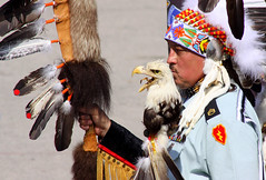 Native (Bill G Moore) Tags: native indian person people tribe eagle feathers powwow canon wisconsin headdress
