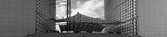 Sous la grande Arche (patrick.tafani) Tags: paris defense ladéfense arche lagrandearche parvis nb bw noiretblanc blackandwhite monochrome pano panoramic panoramique