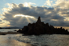 Clouds (Teruhide Tomori) Tags: nature landscape seascape japan japon beach sunset sea ocean coast shore seashore fukui wakasa mihama sun clouds sky 日本 若狭湾 美浜 水晶浜 suishohamabeach 北陸 福井県 風景 日没 夕日 砂浜 海岸
