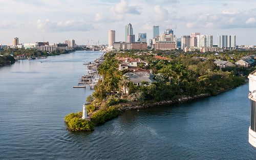 View of Tampa as ship departs