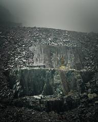 Shelter (Photo Lab by Ross Farnham) Tags: dinorwig quarry sony a7rii 24105mm f4 ross farnham mist landscape wales snowdonia rocks