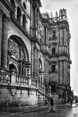La Manquita bn (Joaquín Mª Crespo) Tags: byn blackwhite bw monochromatic cityscape cathedral church sunset urbanscape arches spain lights monuments leicam9