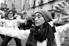 (And I Do My Best Impression of Weightlessness Now) (Robbie McIntosh) Tags: leicam9p leica m9p rangefinder streetphotography 35mm leicam autaut candid strangers leicaelmarit28mmf28iii elmarit28mmf28iii elmarit 28mm blackandwhite chinesenewyear chinese yearofthepig napoli naples
