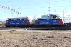 2019-02-22, CFF, Lausanne Triage (Denges) (Fototak) Tags: eisenbahn treno train railway cargo locomotive elok sbbcffffs re420 switzerland 420280 420288