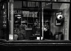 Cafe Culture (Bury Gardener) Tags: suffolk streetphotography street snaps streetcandids strangers people peoplewatching candid candids burystedmunds britain 2018 england eastanglia bw blackandwhite monochrome mono abbeygatestreet